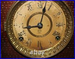 1891 Antiques Us Made Seth Thmas Mantel Clock, Runnng