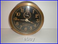 1941 Seth Thomas Mark I-deck Clock # 11057 U. S. Navy Brass
