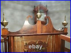 #202 Antique Seth Thomas Off-Center Pillar & Scroll Wood Movement Clock 1818-22