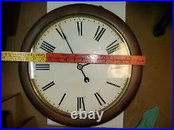 #278 Antique Seth Thomas Mahogany Round Gallery Clock With13 Inch Dial To Restore