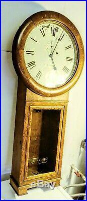 36 Antique Seth Thomas Weight Driven 1913-21, No 2 Regulator Wall Clock Qs Oak