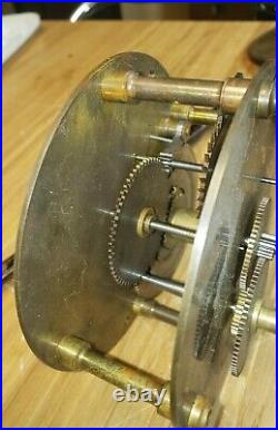 #450 Antique Clock Seth Thomas #1 Regulator Movement and Pendulum