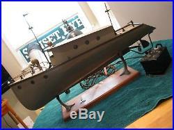 #4, Antique 1932 Albin Boat Display, Popeye, Electric, Seth Thomas Clockwork