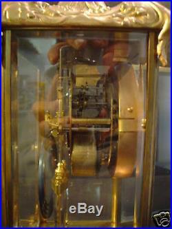 ANTIQUE SETH THOMAS GILT CASE CRYSTAL REGULATOR CLOCK, c. 1900