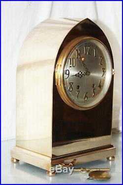 ANTIQUE SETH THOMAS GOTHIC No. 1 Model Clock c/1909 Totally Restored-REAL BRONZE