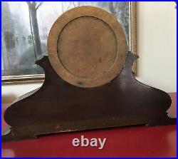 ANTIQUE SETH THOMAS MANTLE CLOCK wooden CASE Brass Patrician #1 wood brass