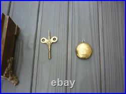 ANTIQUE SETH THOMAS SHELF MANTLE CLOCK Original VG Shape COMPLETE with Key