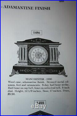 ANTIQUE SETH THOMAS SHELF MANTLE CLOCK-Totally! -Restored- c/1906