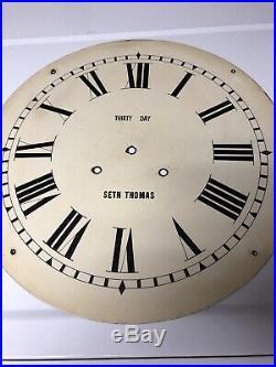 ANTIQUE SETH THOMAS U. S. A. FABULOUS 24 GALLERY CLOCK Circa 1900