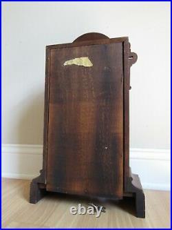 ANTIQUE mantel clock SETH THOMAS key wind 1800's BEAUTIFUL WALNUT