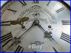 Allis-Chalmers Advertising American Steam Gauge &V Seth Thomas Clock Old Antique