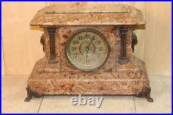 Amazing Antique Seth Thomas Butternut Adamantine Clock 1894