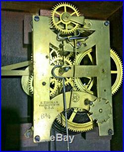 Antique 1884 Seth Thomas Office Calendar No. 6 Wall Clock