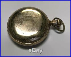 Antique 1888 Seth Thomas Size 18 Pocket Watch Buckeye Case Runs Well