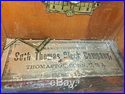Antique 1890 Seth Thomas No. 2 Mahogany Wall Regulator