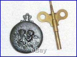 Antique 1908 Seth Thomas Automatic Long-Alarm Clock in Rare Brass Case