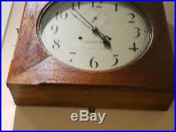 Antique 1920 SETH THOMAS 30 Day OFFICE #11 Oak Gallery Regulator Wall Clock 86T