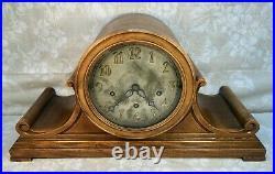 Antique Charles Jacques Mantel Clock Runs 7 Wire Gong Chime & Strike Unit Runs