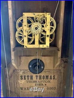 Antique Civil War Era Seth Thomas Half Column Ogee OG clock