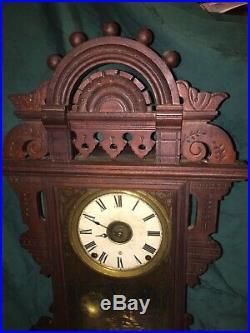 Antique Clean Seth Thomas Eclipse Ball Top Shelf Parlor Mantle Clock Working