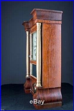 Antique Clock Seth Thomas Miniature Triple Decker Parlor Lyre Mechanical Fancy+