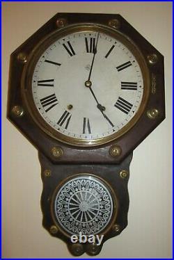 Antique Early Seth Thomas Wall Regulator Clock 8-day, Time/strike