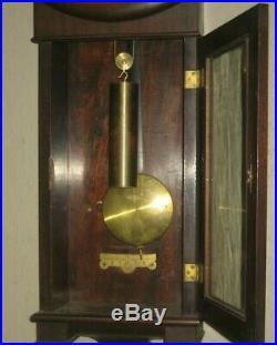 Antique Original Seth Thomas No 2 Wall Regulator Clock Clean Working #2 Complete