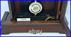 Antique Rare Seth Thomas Detroit 8 Day Mantle Shelf Table Clock Bell Strike
