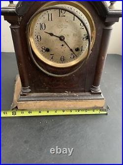 Antique SETH THOMAS SONORA 8 Day Westminster Chime Mantle Clock For Restoration