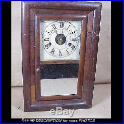 Antique Seth Thomas 30 Hour Miniature Ogee Mantle Clock Round Movement