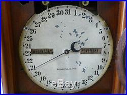 Antique Seth Thomas #5 Double Dial Calendar Clock