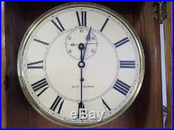 Antique Seth Thomas #71 Weight Driven Regulator Wall Clock Seconds Beat Movement