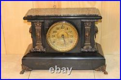 Antique Seth Thomas Adamantine 8 Day Mantle Clock 1890's Serviced & Running