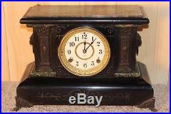 Antique Seth Thomas Adamantine 8 Day Mantle Clock 1899 Serviced & Running
