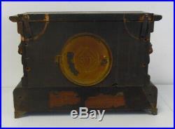 Antique Seth Thomas Adamantine 8 Day Time & Strike Mantle Clock Free Shipping