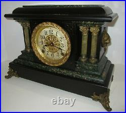 Antique Seth Thomas Adamantine Clock 8-Day, Time/Bell and Gong Strike, Key-wind