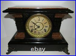 Antique Seth Thomas Adamantine Clock Stamped 8-Day, Time and Strike