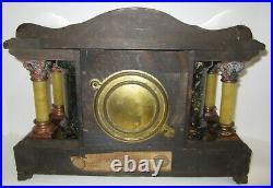 Antique Seth Thomas Adamantine Mantel Clock 8-Day, Time/Strike, Key-wind