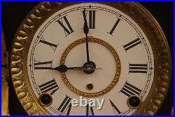 Antique Seth Thomas Adamantine Mantel Shelf Clock Working Faux Marble