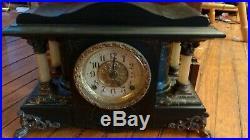 Antique Seth Thomas Adamantine Mantle Clock 1880