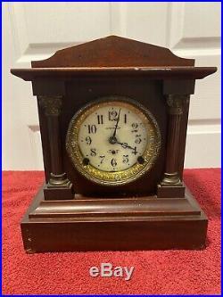 Antique Seth Thomas Adamantine Mantle Clock Circa Early 1900's