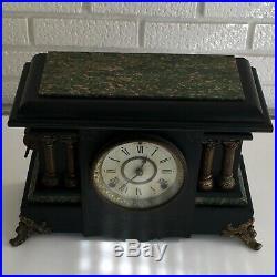 Antique Seth Thomas Adamantine Mantle Clock Pat 1880 Decor Repair Restoration