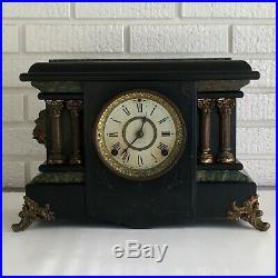Antique Seth Thomas Adamantine Mantle Clock Pat 1880 Shelf Repair Restoration