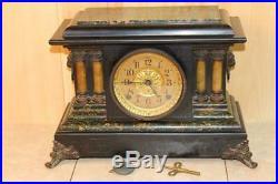 Antique Seth Thomas Adamantine Mantle Clock Running C. 1908