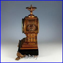 Antique Seth Thomas And Sons Mantel Clock Lions Just Serviced
