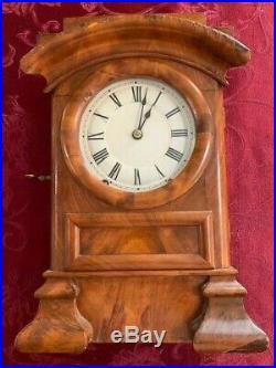 Antique Seth Thomas Arch Top Parlor Shelf Mantle Clock