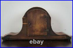 Antique Seth Thomas Art Deco Mahogany Tambour 8 Day Mantel Clock