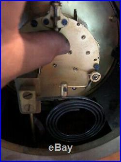 Antique Seth Thomas Brass & Copper Ships Clock Style Mantle Clock 6 Dial RARE