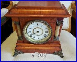 Antique Seth Thomas Brass, Mantel Clock 1920-40's Free Ship