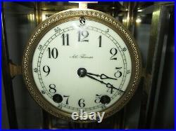 Antique Seth Thomas Crystal Regulator Clock 8-Day, Time/Strike